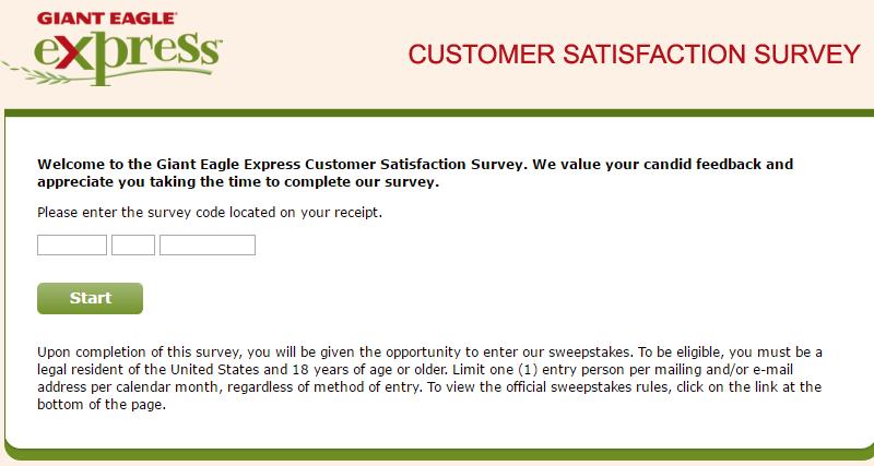 www.gexpresslistens.com – Giant Eagle Express Customer Survey